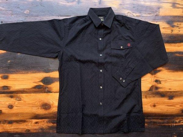 画像1: 鳶黒田オリジナル デザインシャツ ジャガードタイル ブラック 《classyシリーズ》 (1)